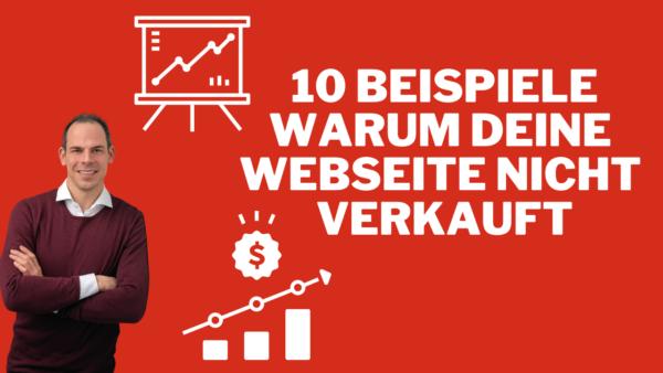 10 Beispiele warum deine Webseite nicht verkauft